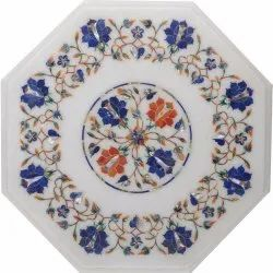 Marble  Inlay Art Rare Marble Coffee Top Table