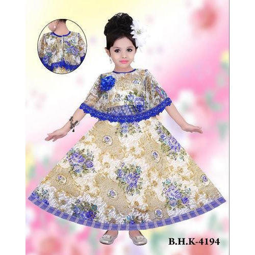 95473b4f684c2 Party Wear Embroidered Kids Girl Fancy Gown, Rs 250 /piece | ID ...