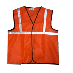Polyester Without Sleeves Reflective Jacket, Size: S to 5 XL