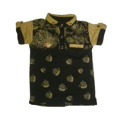Boys Multicolor Kids Collar T-Shirt