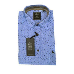 Parx Mens Cotton Printed Casual Shirt, Size: 36 to 46