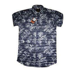 Cotton , Boys Printed Shirt, Size: S, M, L, Xl