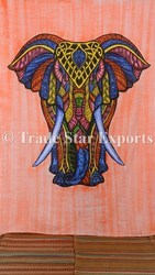 Indian Elephant Tapestry Wall Decor