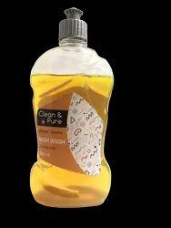 Clean & Pure Lemon Dish Wash, Packaging Type: Plastic Bottle, 500