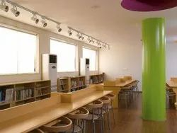 Plywood Linear Library Furniture