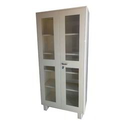 MS, Glass Glass Door Office Cupboard