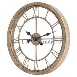 wooden and Aluminium wall clock