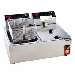 Stainless Steel Double Pan Electric Deep Fryer
