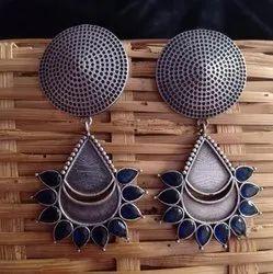 10 gm Silver Look Alike Brass Earrings