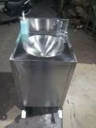 Foot Operated Hand Wash Basin With Soap Dispenser