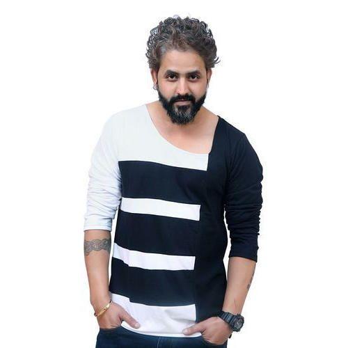 fed4eedf386 Casual Wear Mens Designer Cotton Full Sleeve T Shirt