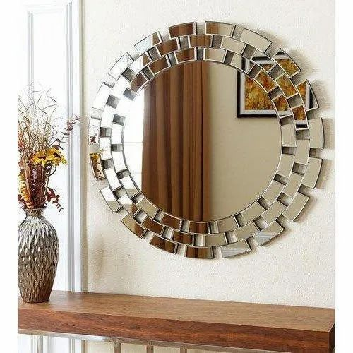 Round Glass Decorative Wall Mirror Packaging Type Box Thickness 5 10 Mm Rs 115 Square Feet Id 18898478073