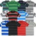 Collar Stripes Mens T-Shirt