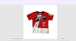 Kids Red Collar T Shirt