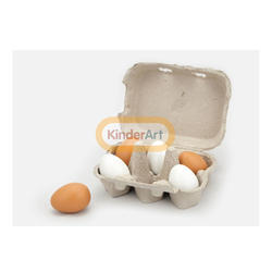 Wooden Eggs  (6 Pcs )