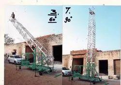 Tilatable Type Telescopic Tower Ladders