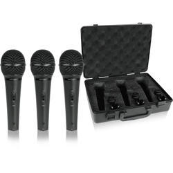 3 Dynamic Cardioid Vocal and Instrument Microphones