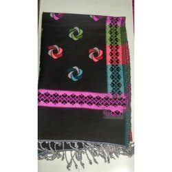 Black Poly Wool Ladies Shawls