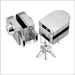 Glass To Glass Lock With Both Sides Key (Rectangular Designer Series)