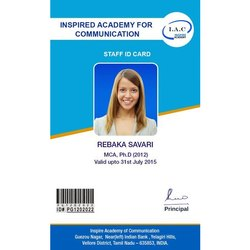 Rectangular One Sided Office ID Card