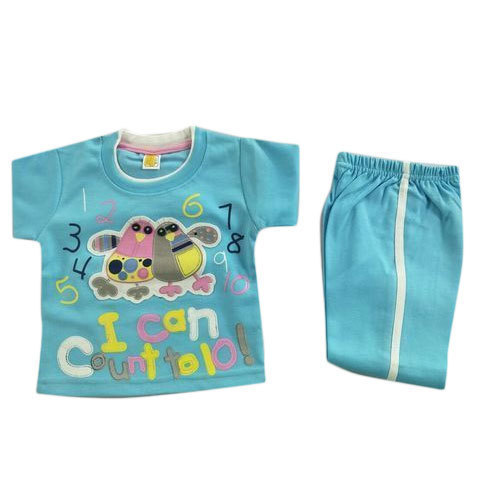 7c2be572d Cotton Sky Blue Baby Boy Baba Suits, Rs 130 /set, Rama Garments | ID ...