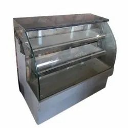 Stainless Steel, Glass Curved Sweet Display Counters