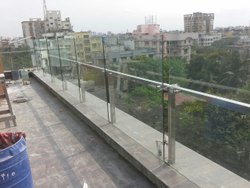 Panel Stainless Steel Balcony Railing, For Home, Mounting Type: Floor