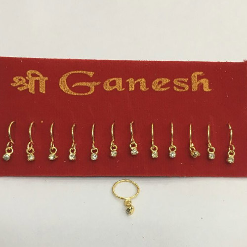 Shree Ganesh Jewellers Electroplated Nose Ring Rs 25 Card Id