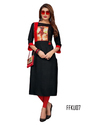 Black Color Digital Print Kurti