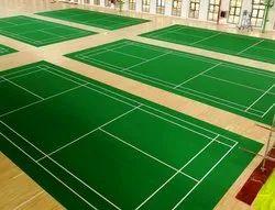 Green Indoor Pvc Sports Flooring