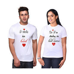 Couple Half Sleeves T Shirts