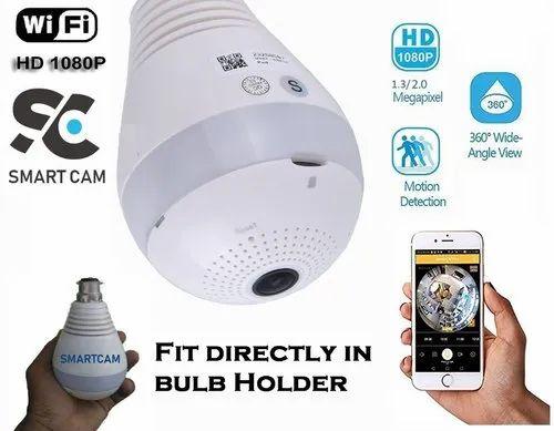 1080P 360° Wireless IP Camera Bulb Light FishEye Smart WiFi Camera Panoramic New