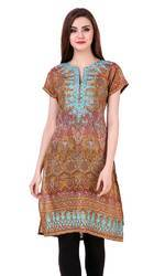 Silk Embroidery Ladies Kurti