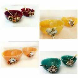 Round Resin Serving Bowls Set, Packaging Type: Box