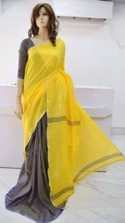 Handloom Cotton Plain Sarees