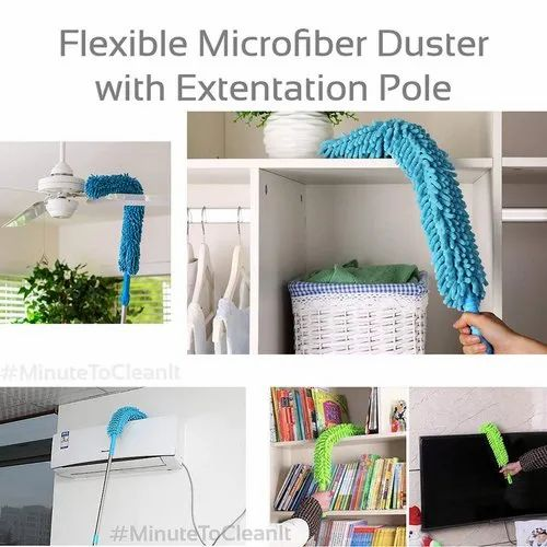 Flexible Microfiber Cleaning Duster with Extendable Rod for Home Car Fan  Dusting--fan cleaning brush, सफाई करने का ब्रश, क्लीनिंग ब्रश - N R Mart,  Surat | ID: 21944453873
