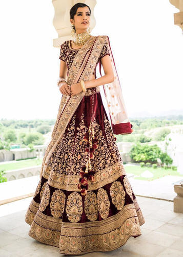 a8649dd730 Wedding Wear Designer Rose Valvate Bridal Lehenga. at Rs 3000 /piece ...