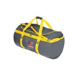 Grey, Yellow Polyester Printed Duffel Bag, For Gym