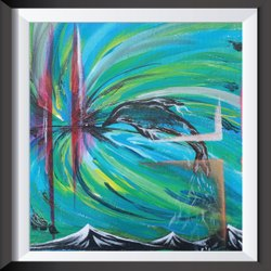 Canvas Streached Painting Abstracts, Size: 1ft X 1ft