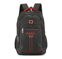 Nylon College Casual Black Backpack