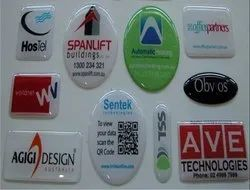 PU Rubber Dome 3D Stickers, Packaging Type: Carton