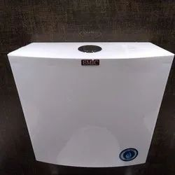 White Single Flush Platinum Center Push Cistern, For Toilet