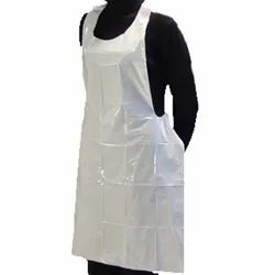 White Disposable Plastic Apron, For Hospital, Size: Free Size