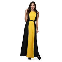 Women Mustard Yellow Black Maxi Dress At Rs 1759 Piece Maxi Dress