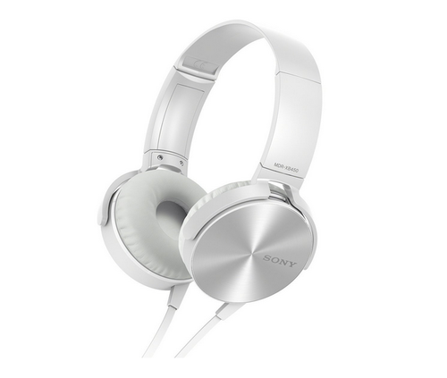 Sony Mdr Xb450 On Ear Extra Bass Headphones (white)
