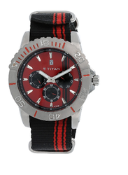 Red Dial Nylon Strap Watch