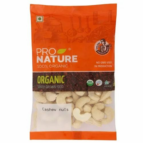 Raw Pro Nature Cashew Nuts, Packaging Type: Packet, Packaging Size: 100 g