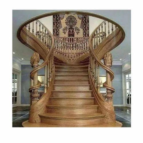 Brown Stairs Designer Wooden Railing Rs 800 Feet Mantasha Wood