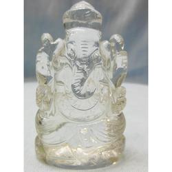 Crystal Sphatik Ganesha Statue, for Interior Decor, Packaging Type: Box