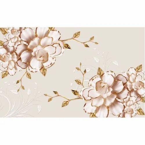 Decorative 3d Flower Wallpaper